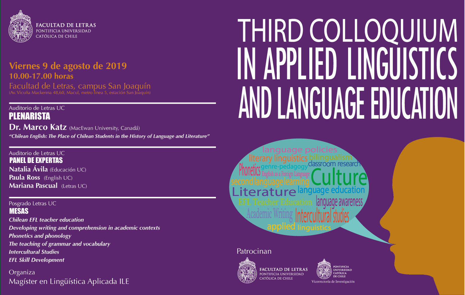 Third Colloquium in Applied Linguistics and Language Education