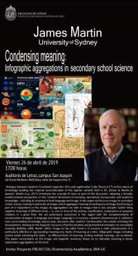 "Conferencia con James Martin (Sydney University): ""Condensing meaning: Infographic aggregations in secondary school science"""